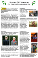 2009 christmas newsletter