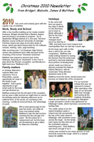 2010 christmas newsletter